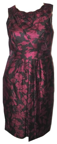 Adrianna Papell Women's Ruby Rosette Sheath Dress Size 4P