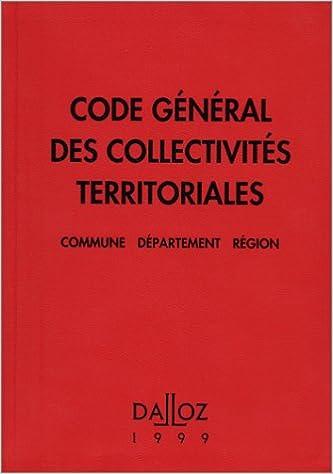 Lire un Code général des collectivités territoriales 1999 epub pdf