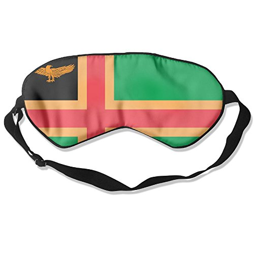 Longnankejilifeaa Sleep Eyes Masks Covers Norway Zanzibar Heritage Flag Silk Sleeping Blindfold Cool Adjustable Strap Eyeshade For Travelling Shift Work Night Noon Nap Yoga (Zanzibar Jungle)