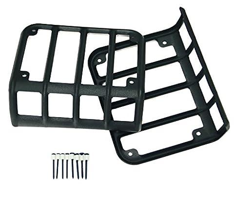 Opar Matte Black Rear Tail Light Cover for 2007-2017 Jeep Wrangler & Wrangler Unlimited JK - Pair (2013 Jeep Parts)