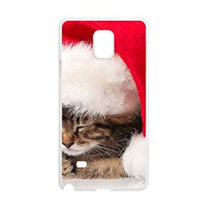 Cute Red Cap Cat White Phone Case for Samsung Galaxy Note4