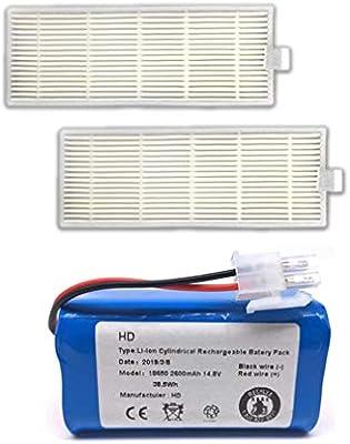 73JohnPol Recargable para el Filtro ILIFE batería 14.8V 2800mAh + ...