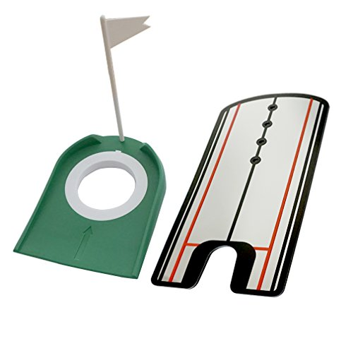 KingWare Golf Putting Alignment Mirror with Golf Putting Cup