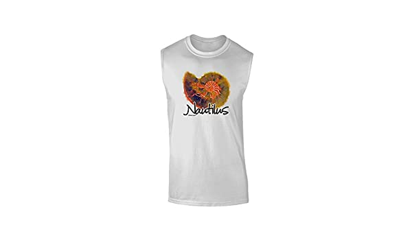 TooLoud Nautilus Fossil Watercolor Muscle Shirt