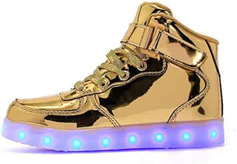 c1e8a4d3 Transformania Toys Galaxy LED Shoes Light Up USB Charging Low Top Velcro  Strap Kids Sneakers BTTF Black