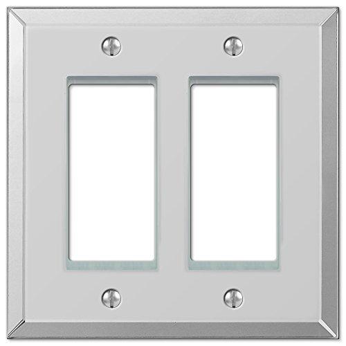 prodotti creativi Amerelle 66RR Mirror Finish Finish Finish Double Rocker GFCI Wallplate, Clear Mirror by Amerelle  solo per te