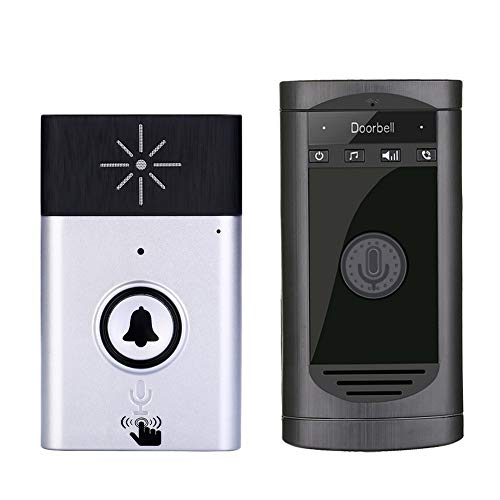 Amyove Wireless WiFi Voice Doorbell Smart Door Phone Intercom Monitor Silver
