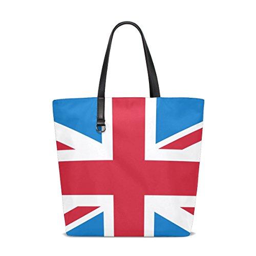 GIOVANIOR Retro Union Jack British Flag Pattern Beach Tote Bags Travel Totes Bag Shopping Tote for Women - Jobs Jack Uk Wills