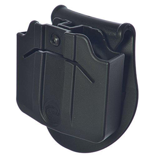 Orpaz Magazine Holster Holds Two Double Stack 9mm Metal Magazines, Fully Adjustable for Rotation & Retention