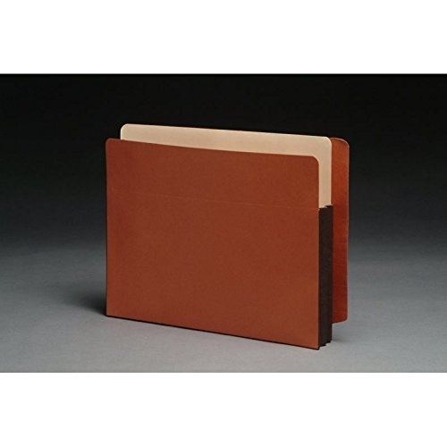 Premium Full END TAB Expansion Pockets, Chocolate Brown Tyvek Gussets, Letter Size, 3-1/2'' Expansion (Carton of 100)
