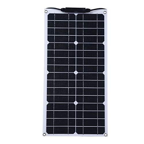 Waterproof 18V 20W Solar Panel, Flexible Monocrystalline Battery Solar Power Charger for RV/Boat