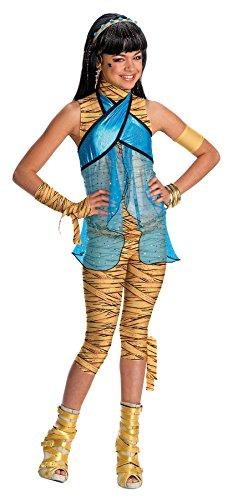 Girls Mh Cleo De Nile Kids Child Fancy Dress Party Halloween Costume, S (4-6)]()