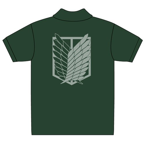Attack on Titan Scouting Legion polo shirt British Green Size: XL (japan import)