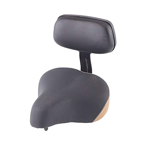 TFCFL Wide Saddle Seat Electric Vehicle Tricycle Bike Bicycle Universal Pad Saddle Seat with Backrest