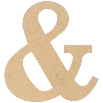 Amazon.com: Pressed Wood Symbols Wall Decor - Ampersand - 10 Inches ...