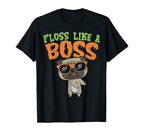 Floss Like A Boss Pug Shirt Halloween Costume Boys Girl Dog -