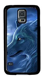 Cool Wolf 004 Samsung Galaxy S5 Hard Shell with Black Edges Cover Case by Lilyshouse by rushername