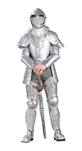 Shining Costumes In Armor Adult Knight (Knight in Shining Armor Costume - Standard - Chest Size up to)