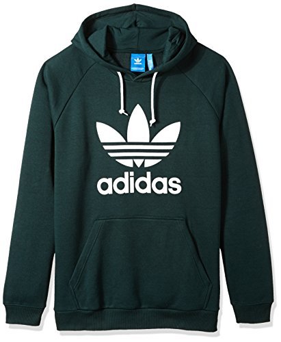 (adidas Originals Men's Trefoil Hoodie, Green Night, Large)