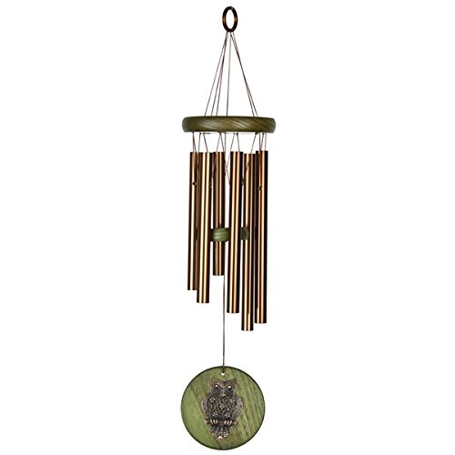 Woodstock Habitats Wind Chime, Green, Owl Woodstock Chimes HCGO