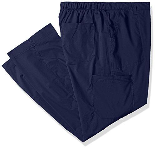 - Landau Men's Premium 6 Pocket Drawstring Cargo Stretch Scrub Pant Uniform, Navy, X-Large Tall