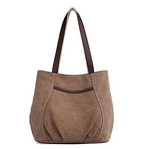 Las Bag Bags Solid Handbags Bolsos Canvas Casual Para New Ladies Fashion Shoulder Color Trend Wwave Señoras vgxfwv