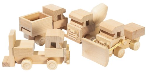 made by you camiones en madera para pintar amazones juguetes y juegos