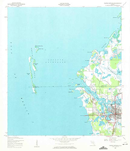 YellowMaps Tarpon Springs FL topo map, 1:24000 Scale, 7.5 X 7.5 Minute, Historical, 1943, Updated 1961, 26.7 x 23 in - Paper (Victor Florida Park)