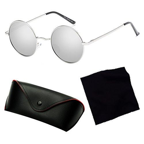 femmes Yying de hommes rondes lunettes rétro C4 Lunettes métal conduite soleil polarisé classique n4wxX6d0