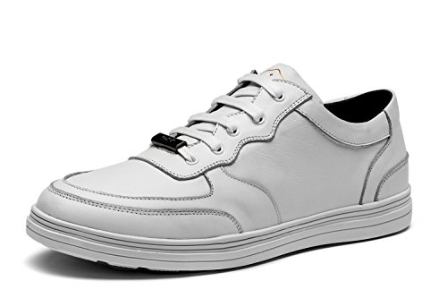 Opp Hombres Lace Up Fashion Sneaker Leather Zapatos 2016 Colección Blanco