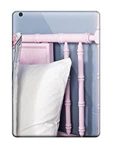Snap On Hard Case Cover Girls Room Pink Bamboo Headboard With Blue And White Accent Pillow Protector For Ipad Air 6035757K79577179