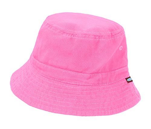 City Threads Unisex Baby Solid Wharf Hat Bucket Hat for Sun Protection SPF Beach Summer - Medium Pink - S(0-6M)