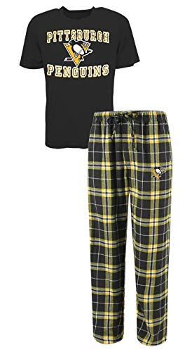Duo Penguin (Concepts Sport Pittsburgh Penguins NHL Great Duo Men's T-Shirt & Flannel Pajama Sleep Set)