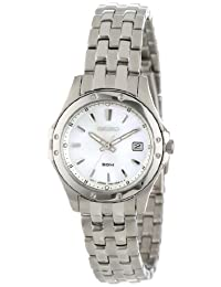 Seiko Women's Stainless Steel Analog with Dial Watch Mother-Of-Pearl SXDE09