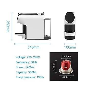 YLLKFJ Home Office automático pequeña cápsula máquina de café multifunción Fabricante de café de la casa 1200W 580ml Apagado automático concentración de ...