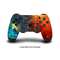 SKINOWN PS4 Controller Skin Cosmic Nebular Sticker Vinly Decal Cover para Sony PlayStation 4 DualShock Wireless Controller