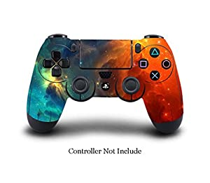 Amazon.com: SKINOWN PS4 Controller Skin Cosmic Nebular Sticker ...