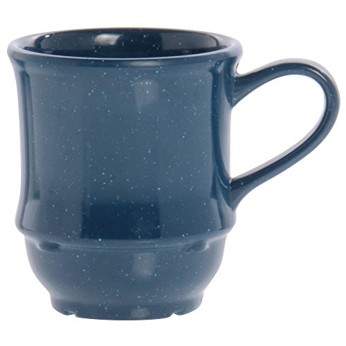 8 Ounce Stacking Mug - G.E.T. TM-1208-TB Texas Blue 8 Oz Stacking Coffee / Soup Mug - 24 / CS