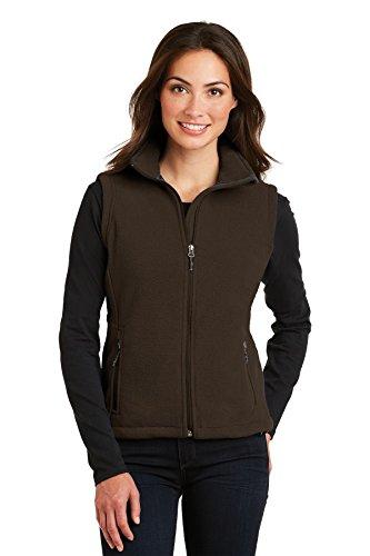 Port Authority Ladies Value Fleece Vest, L, Dark Chocolate (Brown Fleece Vest)