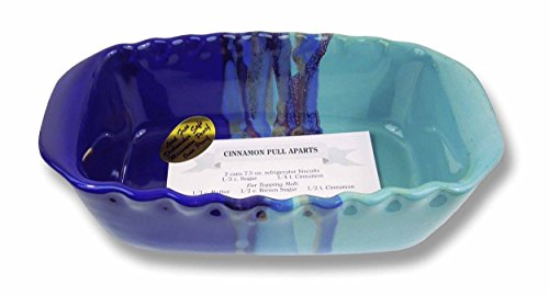 Clay In Motion Handmade Ceramic 1.25 Quart Loaf Pan - Mystic Waters