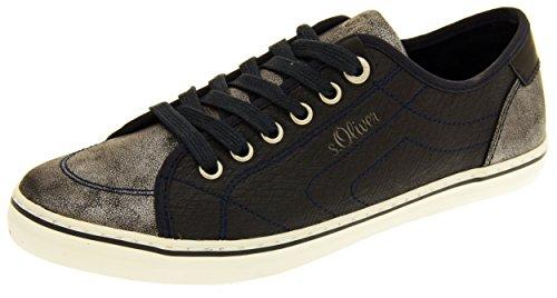 S.Oliver 23614-27 Mujer Casual con Cordones Zapatillas de Verano Azul