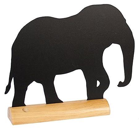 madera de teca Securit color negro Pizarra dise/ño silueta de cerdo
