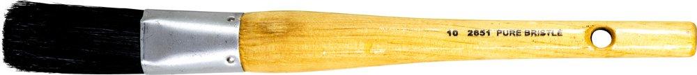 PFERD 89679 Oval Sash Brush, Black Bristle Filament, 1-1/4'' Width, 2-1/4'' Trim Length, 10 Brush Size (Pack of 12)
