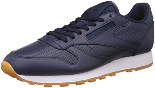 Reebok Classics Men s Cl Pg Collegiate Navy and White Gum Leather Running  Shoes - 11 UK 3836a3b48