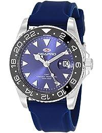 Men's Agent Stainless Steel Quartz Rubber Strap, Blue, 20 Casual Watch (Model: SP0125)