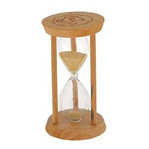 3 Minutos Reloj de Arena Temporizador Matemáticas Ejercicios Cepillarse los Dientes Madera - Amarilla 2