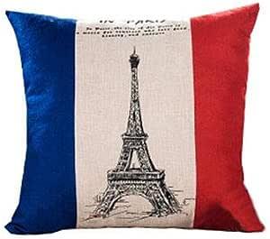 أغطية وسادة رمي 45.72 × 45.72 سم أزرق وأحمر غطاء وسادة ديكور للأريكة أو المنزل أو غرفة النوم أو في الداخل أو الخارج وسادة الباب