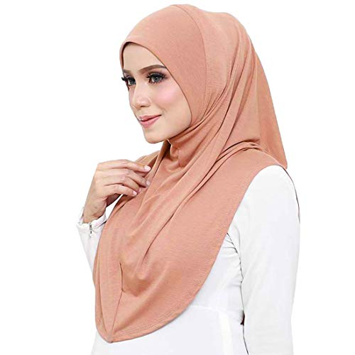 FANA 1 Piece Premium Boutique Quality Cotton Knit Slip-On Easy Hijab (Cinnamon)