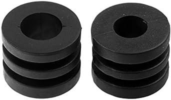 Sharplace 16 Pcs de Paragolpes de Varilla Topes de Goma Ranurados de Color Negro Accesorio Deportivo - 16 mm para Mesa de futbolín de 1,4 m: Amazon.es: Deportes y aire libre