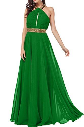de a Prom vestido gasa de Neck Mujer piedras ressing vestido fiesta ivyd Dunkelgruen Holder vestido para con noche de línea wBqTnE